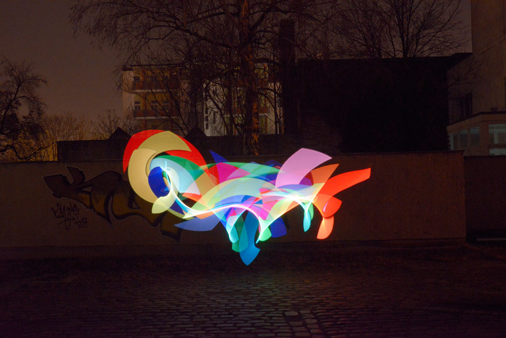 Licht Graffiti - Light Painting - rainbow